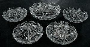Brilliant Period Cut Glass Plates