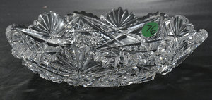 Four Brilliant Period Cut Glass Serving Pieces