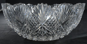 Brilliant Period Cut Glass Bowl, Relish