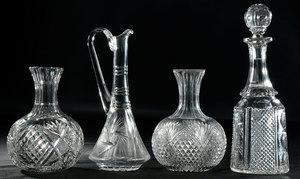 Brilliant Period Cut Glass Serving Pieces