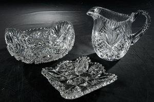 Three Brilliant Period Cut Glass Items