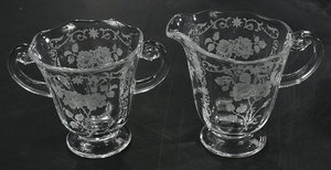 Six Elegant Glassware Table Items