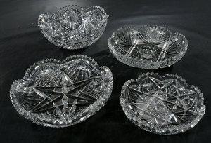 Four Brilliant Period Cut Glass Bowls
