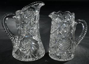 Two Brilliant Period Cut Glass Pitchers