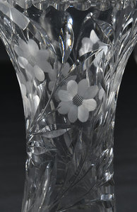 Three Brilliant Period Cut Glass Vases, Pitcher
