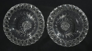 Pair Brilliant Period Cut Glass Compotes