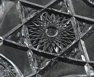 Five Brilliant Period Cut Glass Dishes, Tray