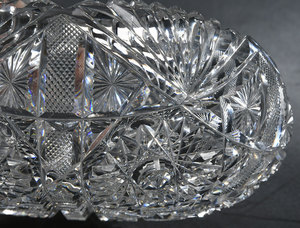 Five Brilliant Period Cut Glass Dishes, Nappies