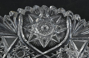 Seven Brilliant Period Cut Glass Relishes