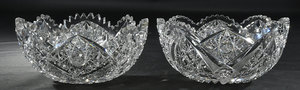 Two Brilliant Period Cut Glass Bowls