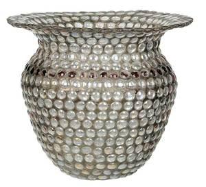 Tony Carretta Leaded Glass Vase