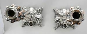 Pair of Polish Silver Candlesticks