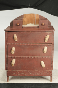 American Folk Art Painted Chest of Drawers