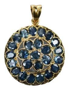 14kt. Sapphire Pendant