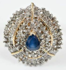 14kt. Sapphire and Diamond Ring