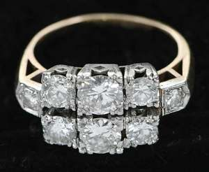 Platinum & 14kt. Diamond Ring
