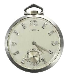 Longines Platinum Pocket Watch