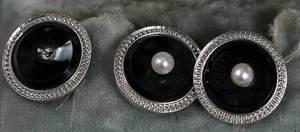 Platinum & 14kt. Dress Set