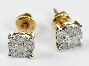 10kt. Diamond Cluster Earrings