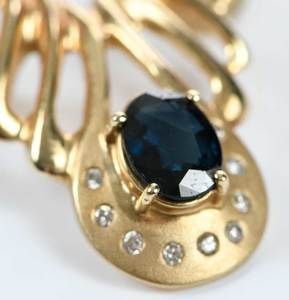 Two 14kt. Gemstone Slide Pendants