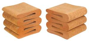 """Frank Gehry """"Wiggle"""" Stools"""