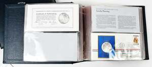 Group of 35 Sterling Silver Commemorative Coins