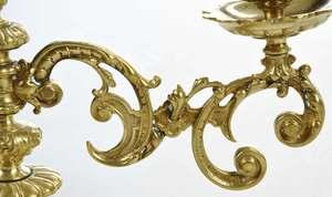 Pair of Swing Arm Brass Candlesticks