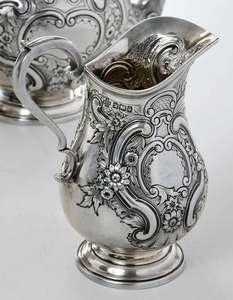 Four Piece English Silver Tea Service