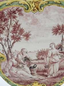 Pair of Angelo Minghetti Majolica Tulipieres