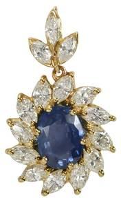 18kt. Sapphire & Diamond Pendant