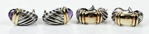 Two Pairs David Yurman Earrings