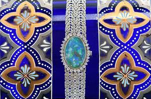 Chopard 18kt. Diamond & Opal Watch