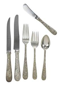 Kirk Repousse Sterling flatware,  pieces
