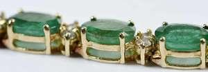 14kt. Emerald & Diamond Bracelet