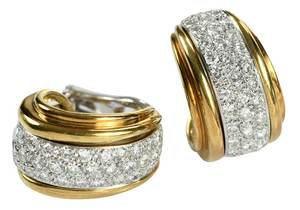 Jose Hess 14kt. Diamond Earrings