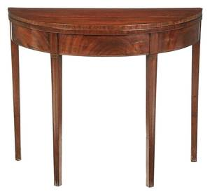 Federal Mahogany Demilune Card Table