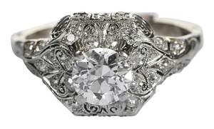 Platinum & Gold Diamond Ring