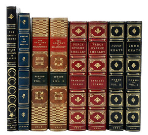 Eight Literature Books with Fine Bindings