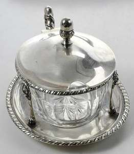 Four Italian Silver Table Items