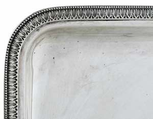 Italian Silver Tray and Bowl