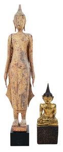 Two Thai Wood Buddhas