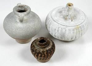 Seven Shipwreck Pottery Objects / Mercury Jars