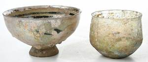 Four Iridescent Roman and Persian Table Items