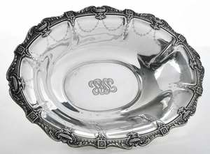 Sterling Oval Center Bowl
