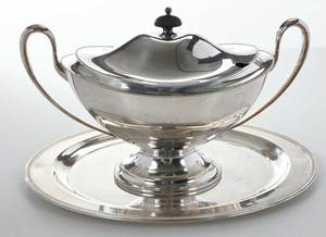 Silver-Plate Tureen and Tray