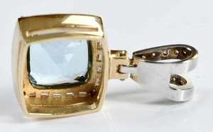 14kt. Aquamarine & Diamond Pendant
