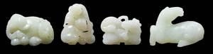 Four Jade/Hardstone Carvings