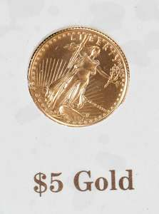 Two Five Dollar Gold Coins
