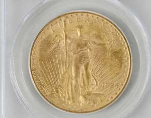 Four United States $20 Gold Coins