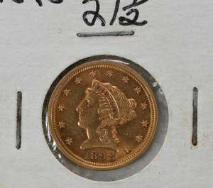 Nine United States $2.50 Gold Coins